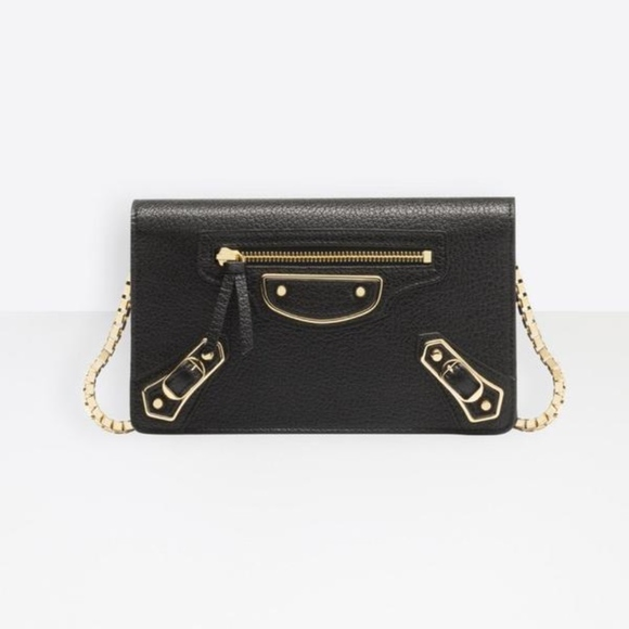 3e04ef5d324 Balenciaga Bags | Classic Metallic Edge Chain Wallet | Poshmark